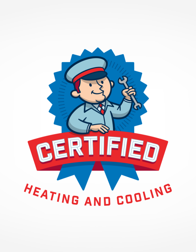 Certified Heating And Cooling Logo Design For A Heating