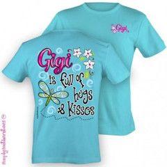 38c1a2ba Simply Southern Funny Gigi Grandma Nana Sweet Girlie Bright T Shirt    SimplyCuteTees