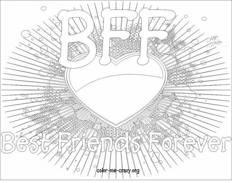 Bff Heart Coloring Pages Bff Coloring Pages 171 Coloring Pages For Free 2015 1 95798 In 2020 Ausmalbilder Bff Ausmalen