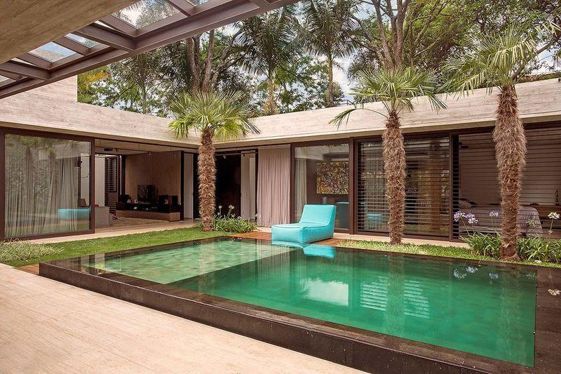 U Shaped Contemporary Homes Casas Em Forma De U Casas Arquitetura Casas