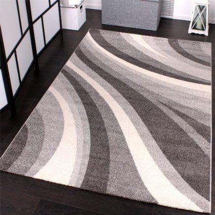 Phc tappeto moderno per soggiorno e altro con motivo a onde colore grigio 160 x 230 cm amazon it casa e cucina