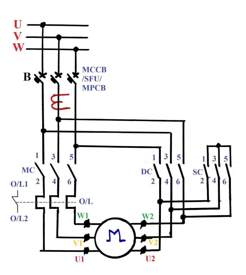 10  Electric Motor Star Delta Wiring Diagram