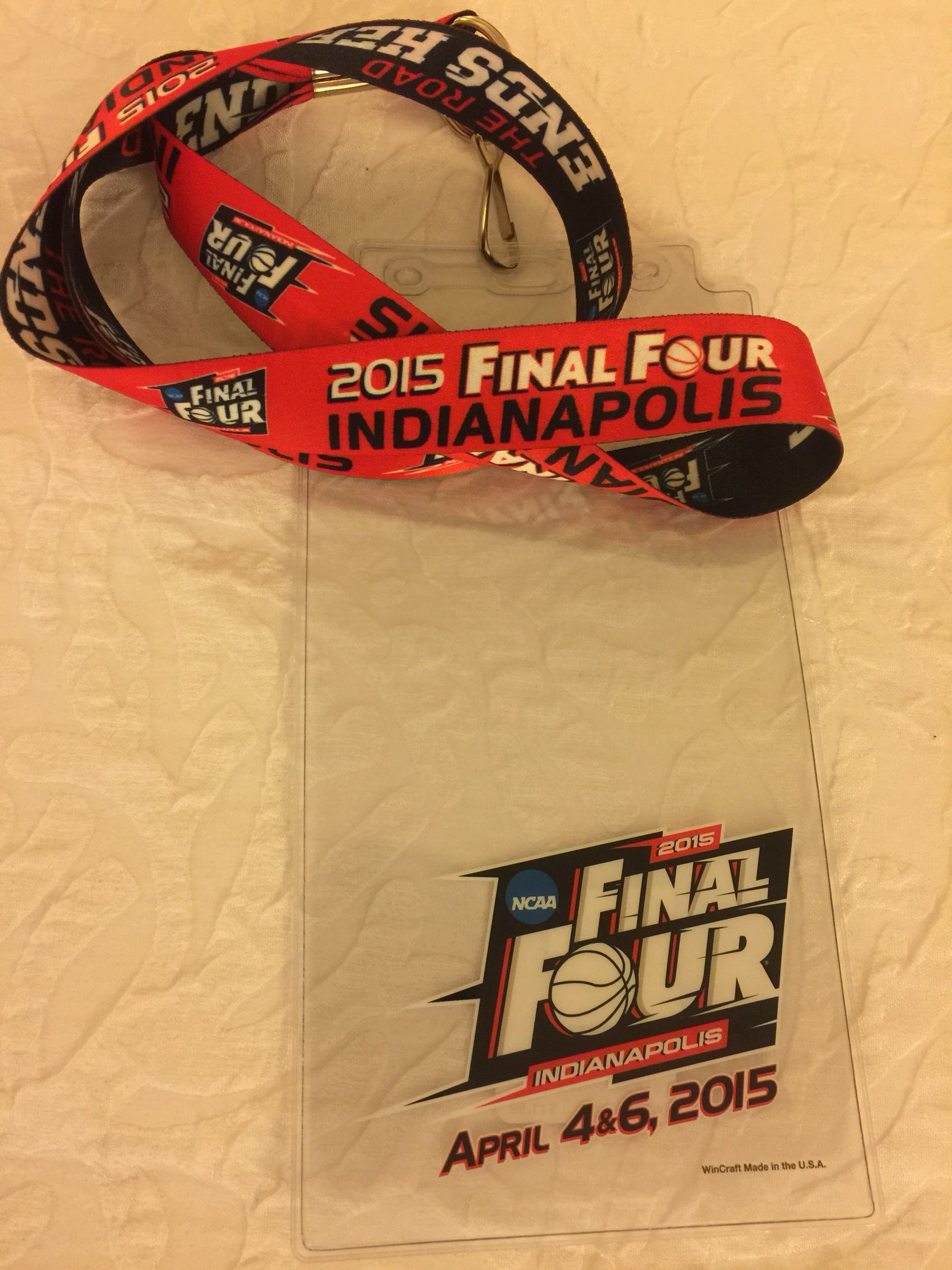 2015 Final Four Indianapolis Lanyard.