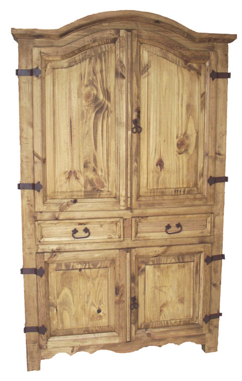 Corner Armoire 48x77 | Rustic mexican furniture, Corner ...