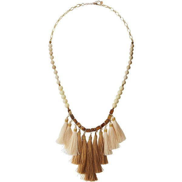 Nakamol Red Tassel Multi-Bead Necklace d6SWc