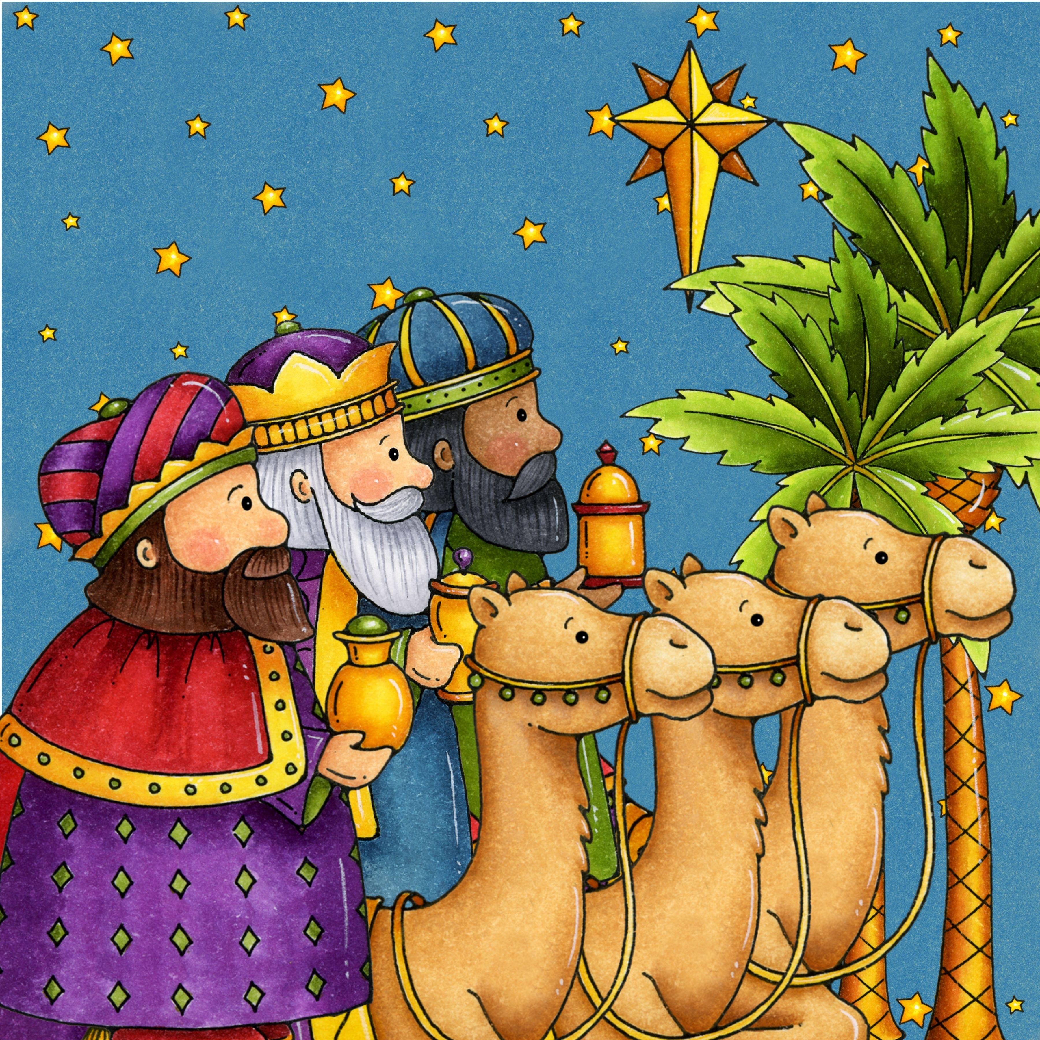 Three Kings Driekoningen Thema Kerstmis