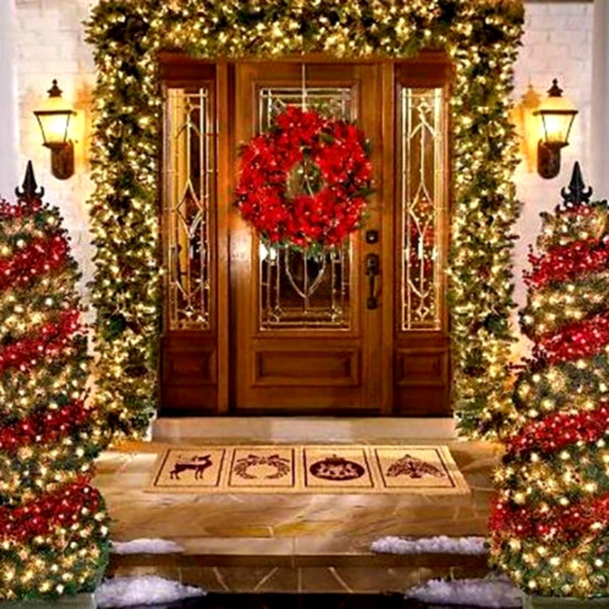 Outdoor christmas decorations 2014 - Decorating Landscaping Ideas Small Front Yard Led Christmas Lights Outdoor Christmas Decorating 2014 Decorating Outside For Christmas Small Front Yard