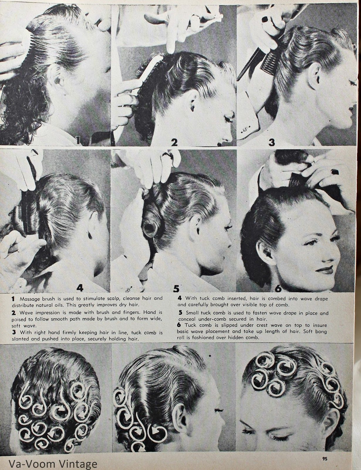vintage pin curls diagram 2016 dodge ram wiring curl instructional culturebee co by katie chaffin on pinup in 2019 pinterest hair rh com set
