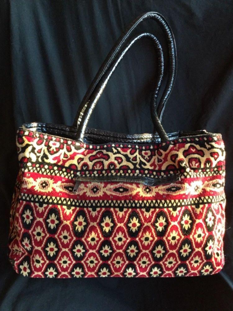 976b1fd1b543 FLORAL Tapestry CARPET BAG Velvet Chenille Print Large TOTE BAG Satchel  Handbag  ColdwaterCreek  ToteBagSatchelCarpetBagSatchelTote