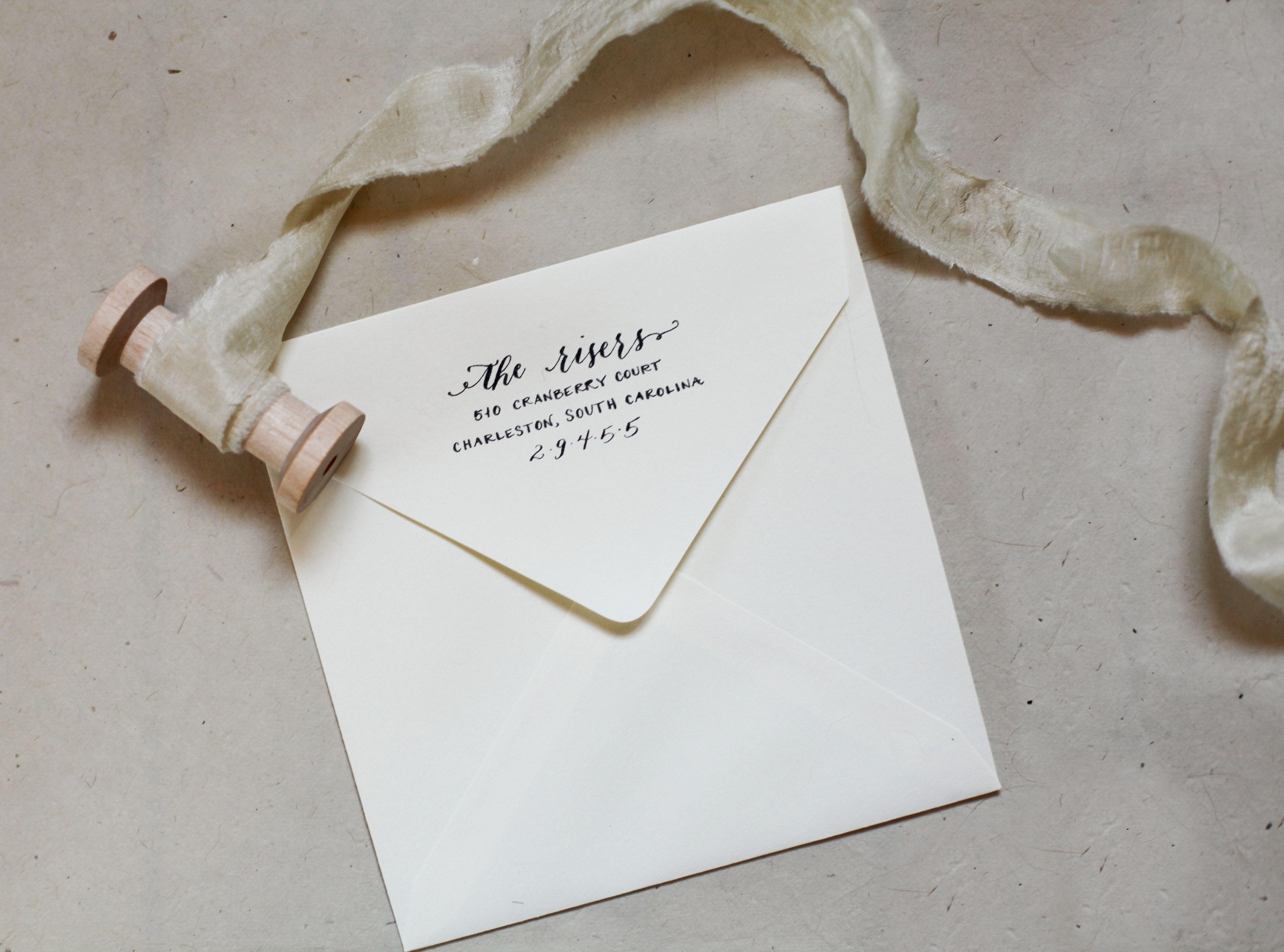 Ragan House Lettering custom hand lettered return address rubber ...