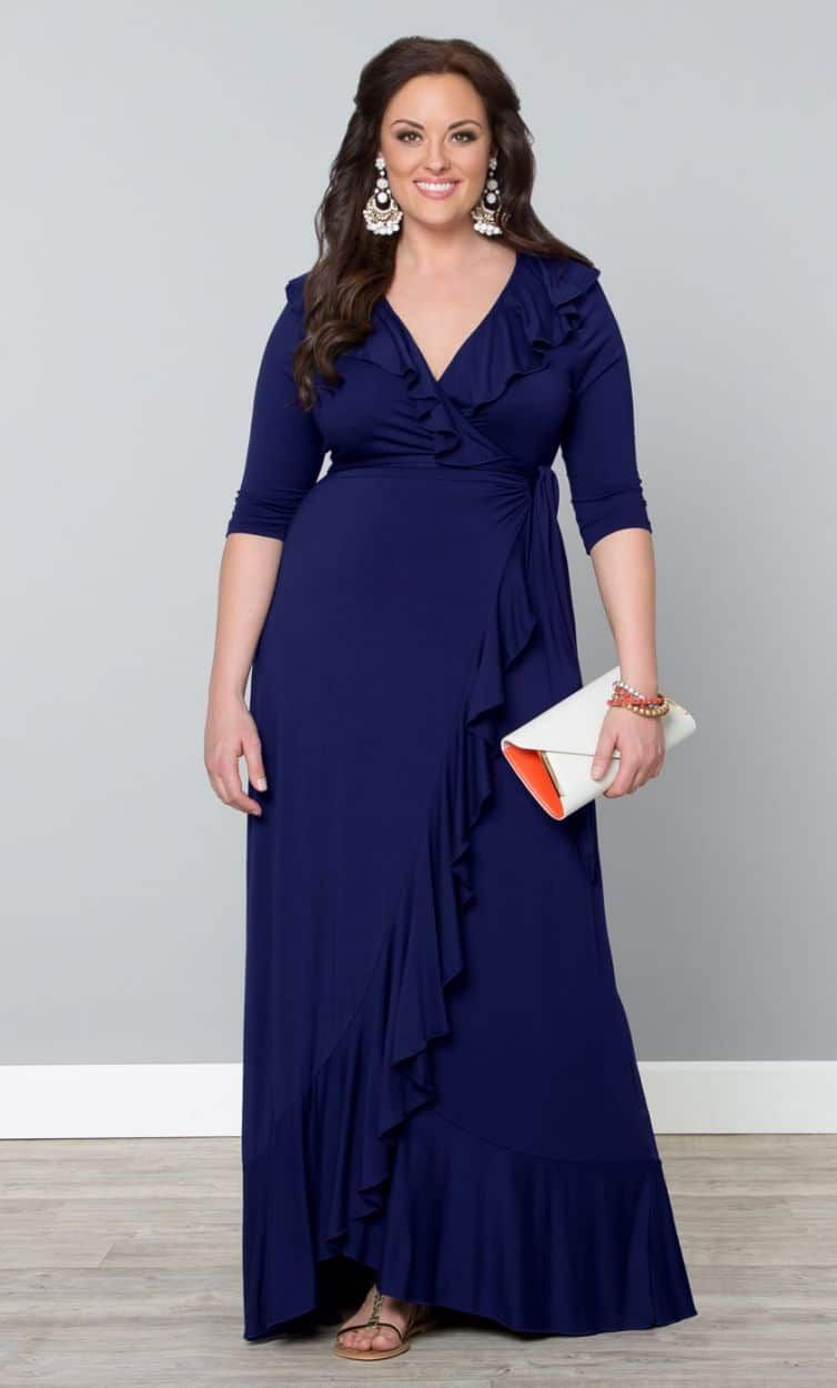 Gotta Have It Maritime Maxi Plus Size Maxi Dress By Kiyonna Maxi