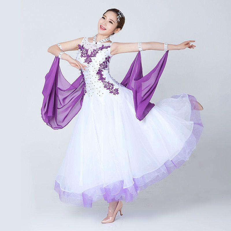 Ballroom Dance Dress Moderne Valse Standard Competition Blue Dance