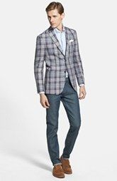 Ted Baker London 'Tom' Trim Fit Plaid Linen Sportcoat