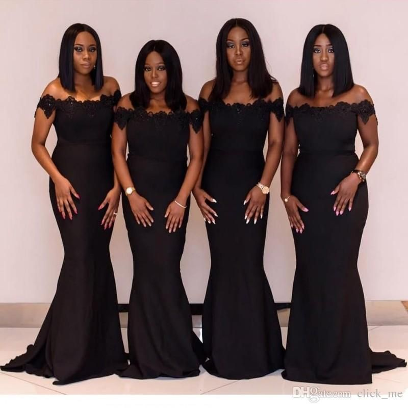 996895c2161 African Nigerian Plus Size Bridesmaid Dresses Beads Off Shoulder Appliques  Lace Maid Of The Honor Mermaid Bridesmaid Dress Vestidos