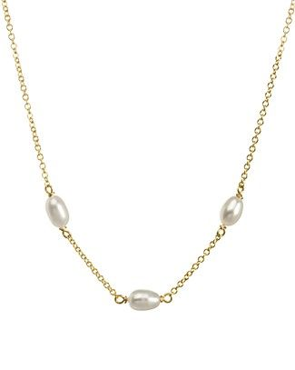 """Dogeared Cultured Freshwater Pearl Choker Necklace, 14"""" $64"""