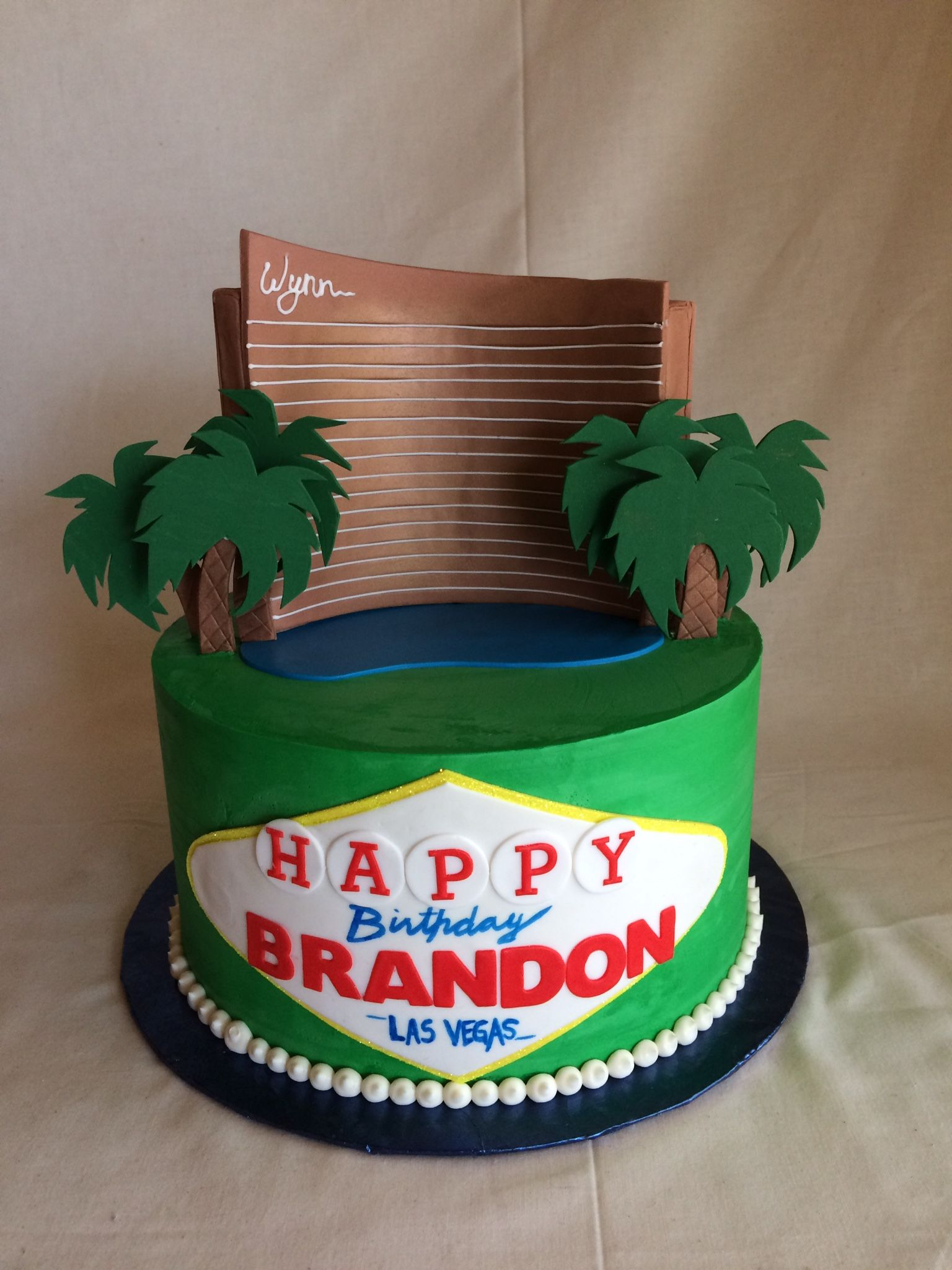 Marvelous Birthday Cake Las Vegas Wynn With Images Cake Custom Cakes Funny Birthday Cards Online Sheoxdamsfinfo