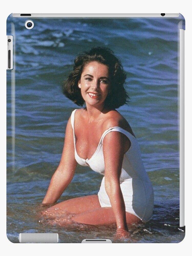 Photo of 'ELIZABETH TAYLOR ON THE BEACH' iPad Case/Skin by ArtbyCPolidano