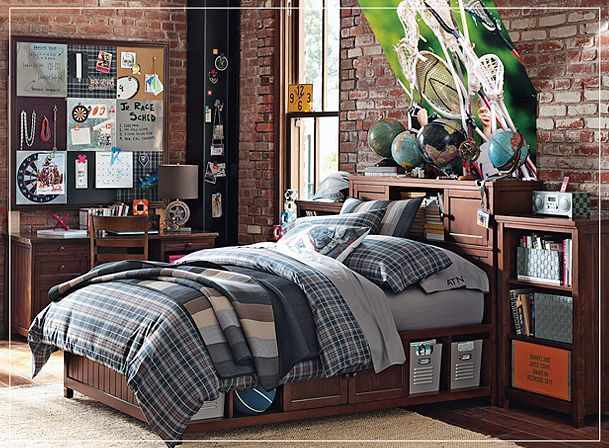 Pb Teen Pottery Barn Boys Bedroom Interior Design Memo Board Love - Pottery barn teenagers