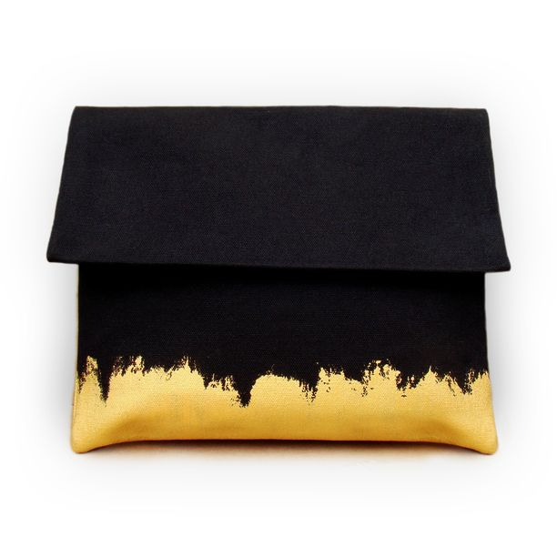 So into this design on Fab! Clutch Gold On Black #FabForAll