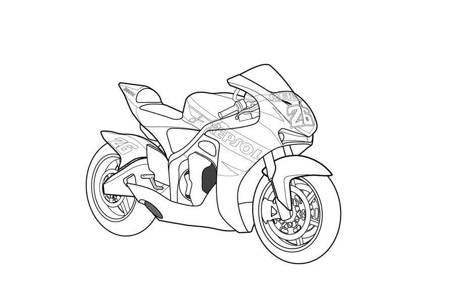 Honda Dirt Bike Coloring Pages Kids Coloring Page With Images