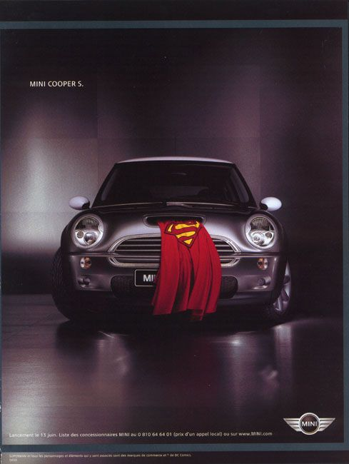 Superman batman quand la publicit emploie les super h ros advertising graphic design - Superman en voiture ...