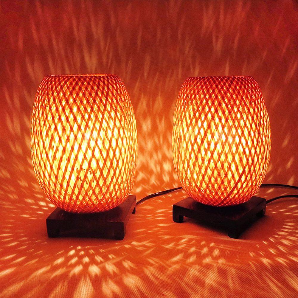 Lampes Paire En De Chevet Bambouamp; Variateurlumieretamisee by6f7g
