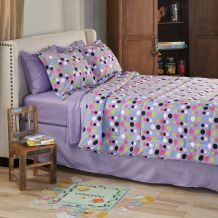 @Overstock - Add a fun touch to any room with this Dot microfiber bed in a bag.  This comforter showcases a dot print in stylish colors and reverses to a solid purple print.  http://www.overstock.com/Bedding-Bath/Dot-8-piece-Full-size-Bed-in-a-Bag-with-Sheet-Set/5617702/product.html?CID=214117 $31.74