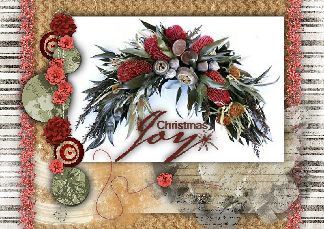 CARD FRONT:- Cinnamon & Apple 3 [Ginger Scraps]
