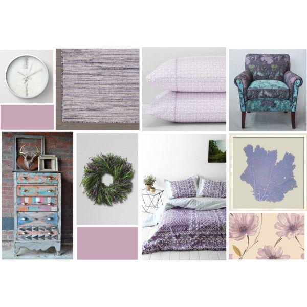 """Purple Bedroom"" by decrist on Polyvore"