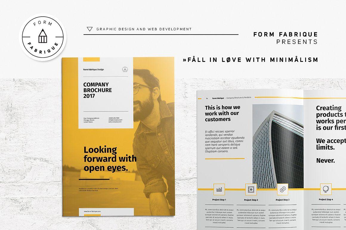 company brochure by form fabrique on creativemarket レイアウト