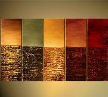 Peachy Amazon Com Abstract Warm Color Tones Oil Painting Hand Painted Largest Home Design Picture Inspirations Pitcheantrous