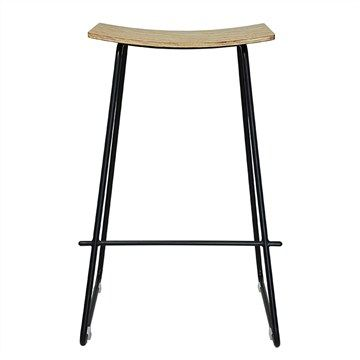 Swell Porter Commercial Grade Steel Bar Stool Natural Black Machost Co Dining Chair Design Ideas Machostcouk