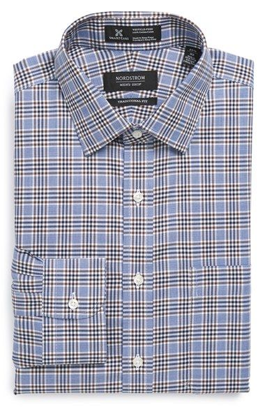 Nordstrom Smartcare™ Wrinkle Free Traditional Fit Plaid Dress Shirt