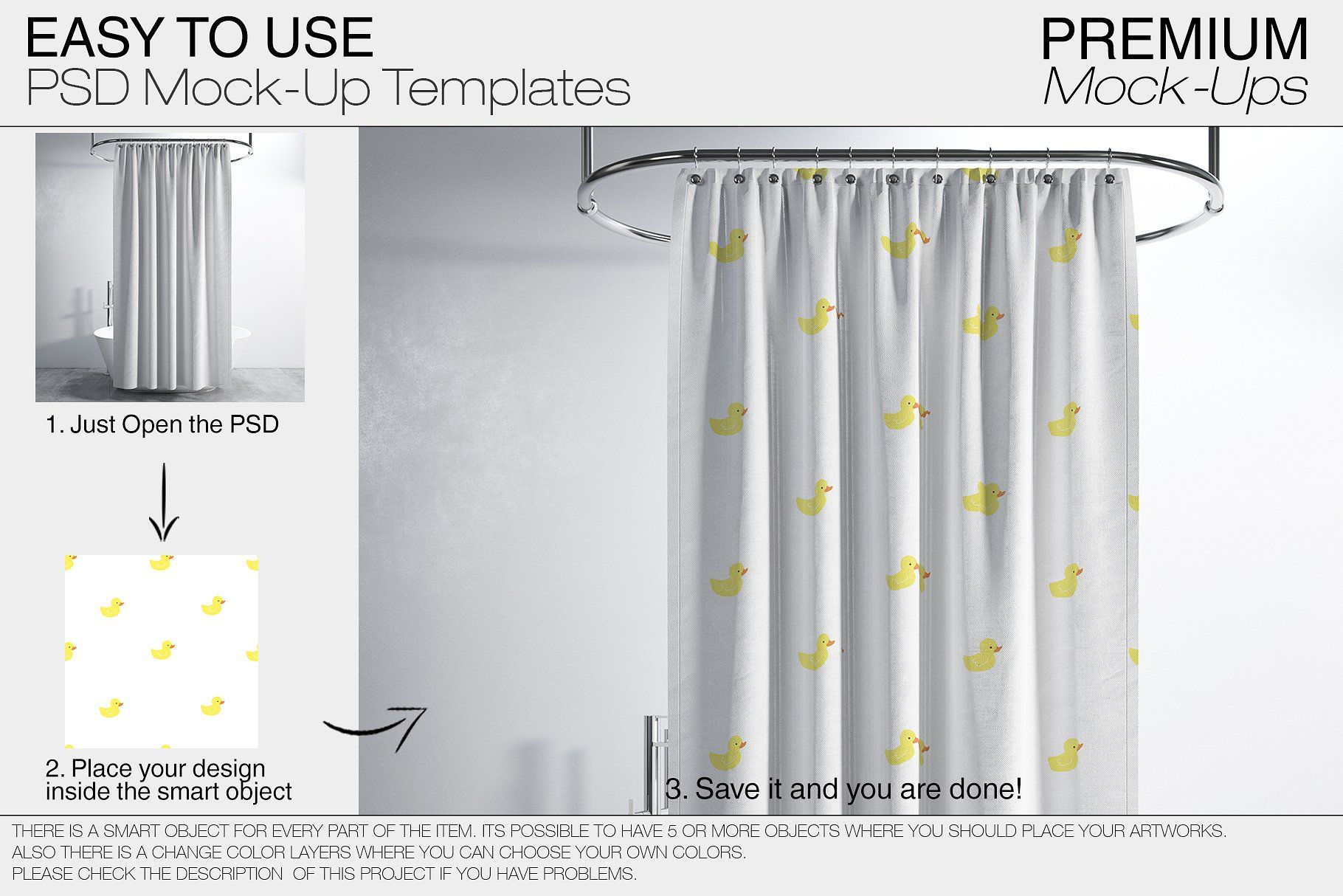 Bath Curtain Mockups Mockup Curtains Your Design