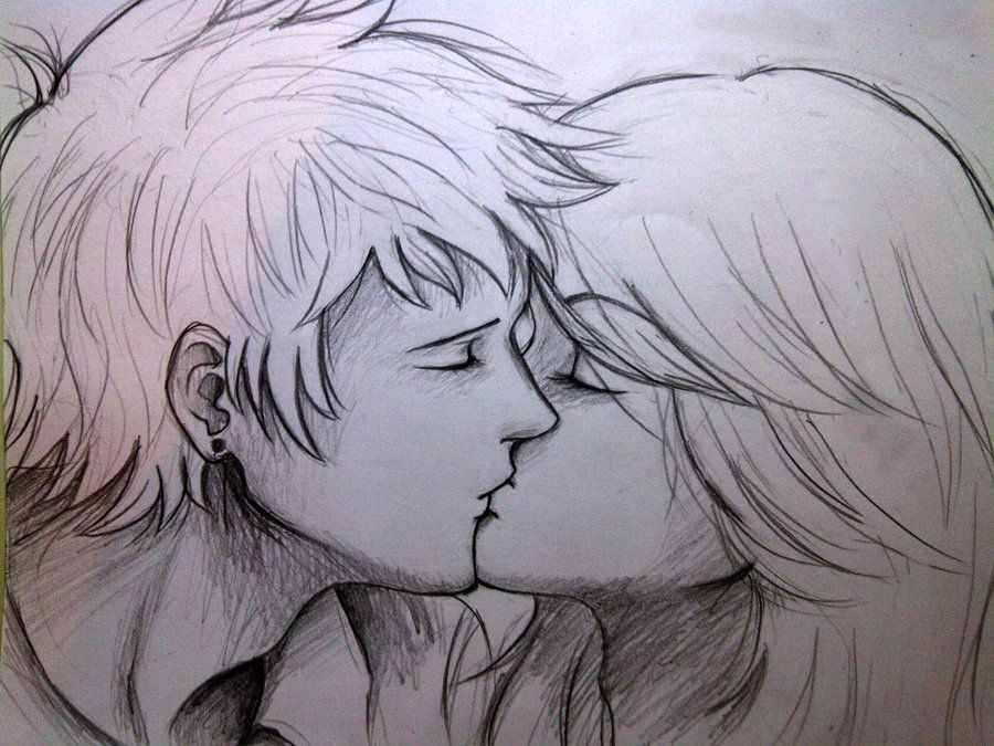 Can tumblr couples kissing drawings very well