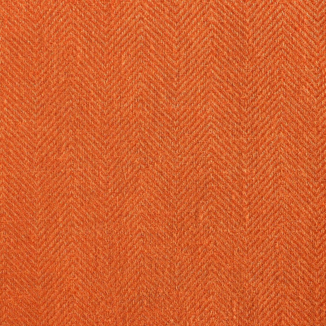 Anichini Fabrics Nobel Linen In Burnt Orange French