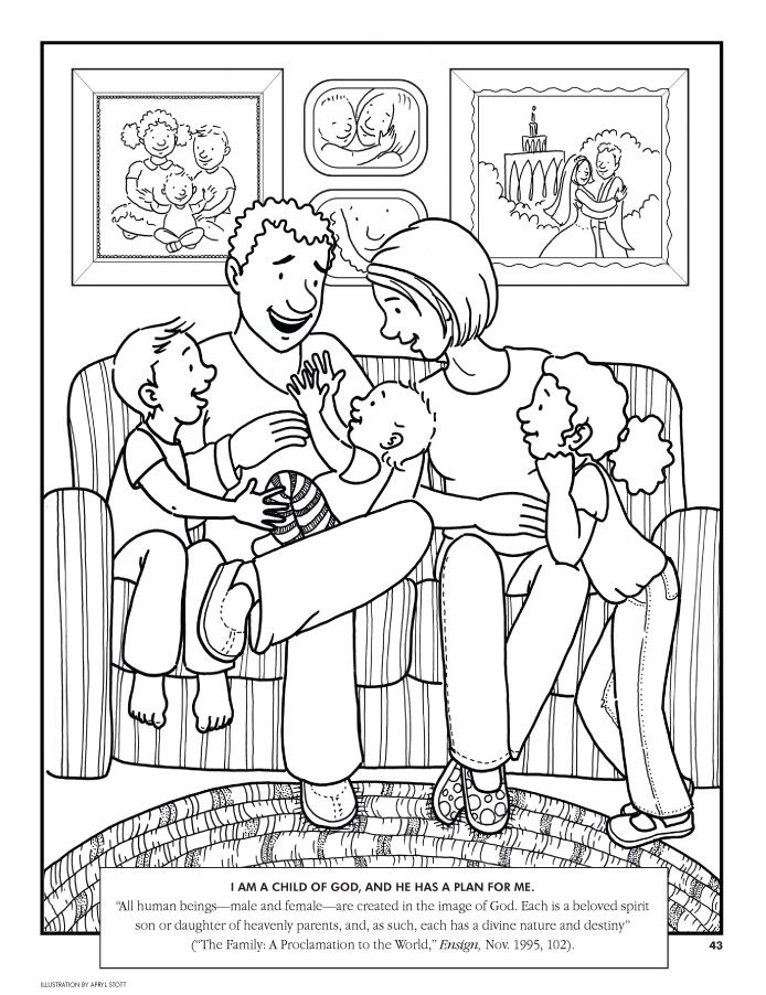 "Image detail for Coloring page ""I am a child of God, and"