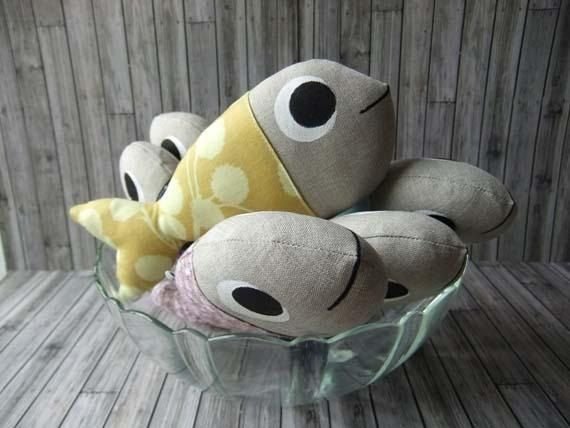 sun Guppy fish softie doll