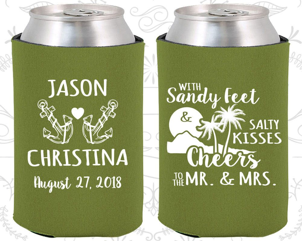 Olive Wedding, Olive Can Coolers, Olive Wedding Favors