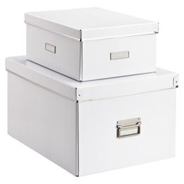 White Storage Boxes. u2022Constructed from heavyweight 90% post-consumer recycled fiberboard.  sc 1 st  Pinterest & White Storage Boxes. u2022Constructed from heavyweight 90% post-consumer ...