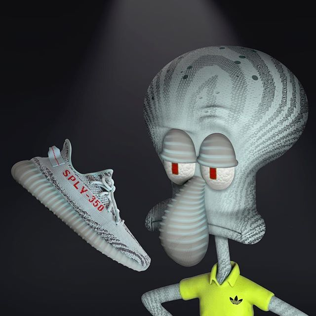 spongebob #squidward | Yeezy, Sneakers