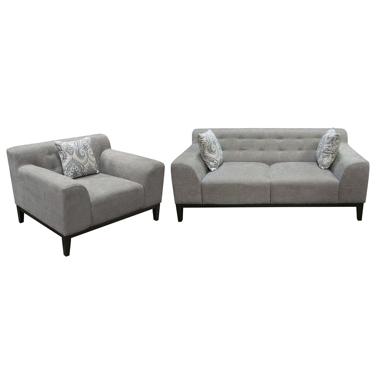 Diamond Sofa Marquee Sofa Chair Set Tufted Moonstone Fabric