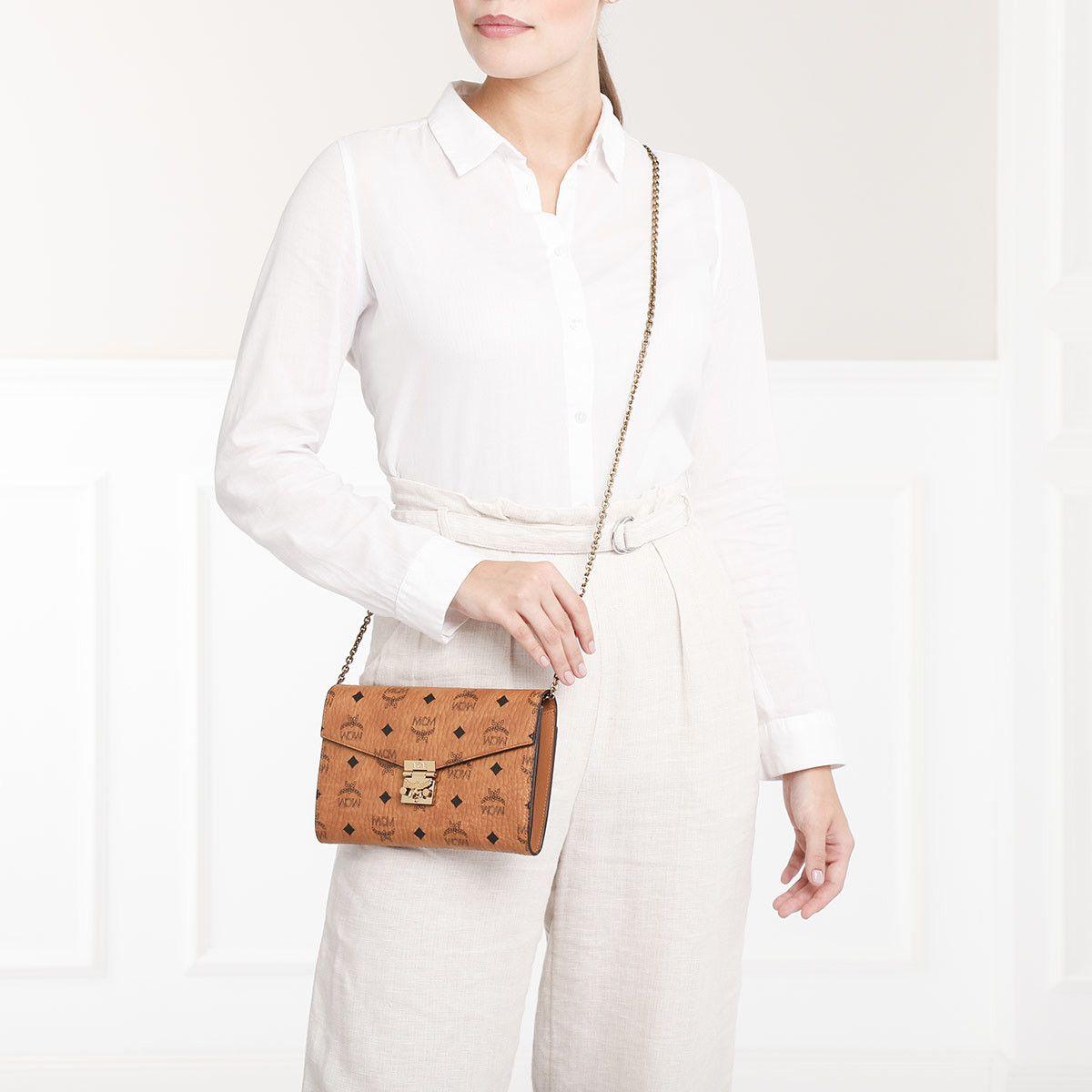 Handtasche, MCM, Patricia Visetos Crossbody Wallet Large