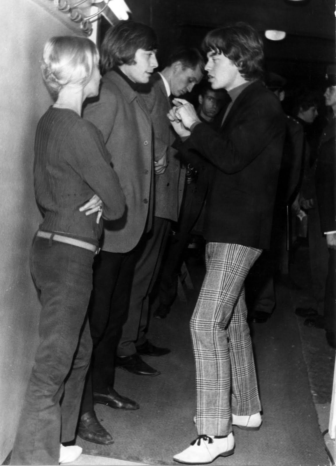 Shirley and Charlie Watts with Mick Jagger