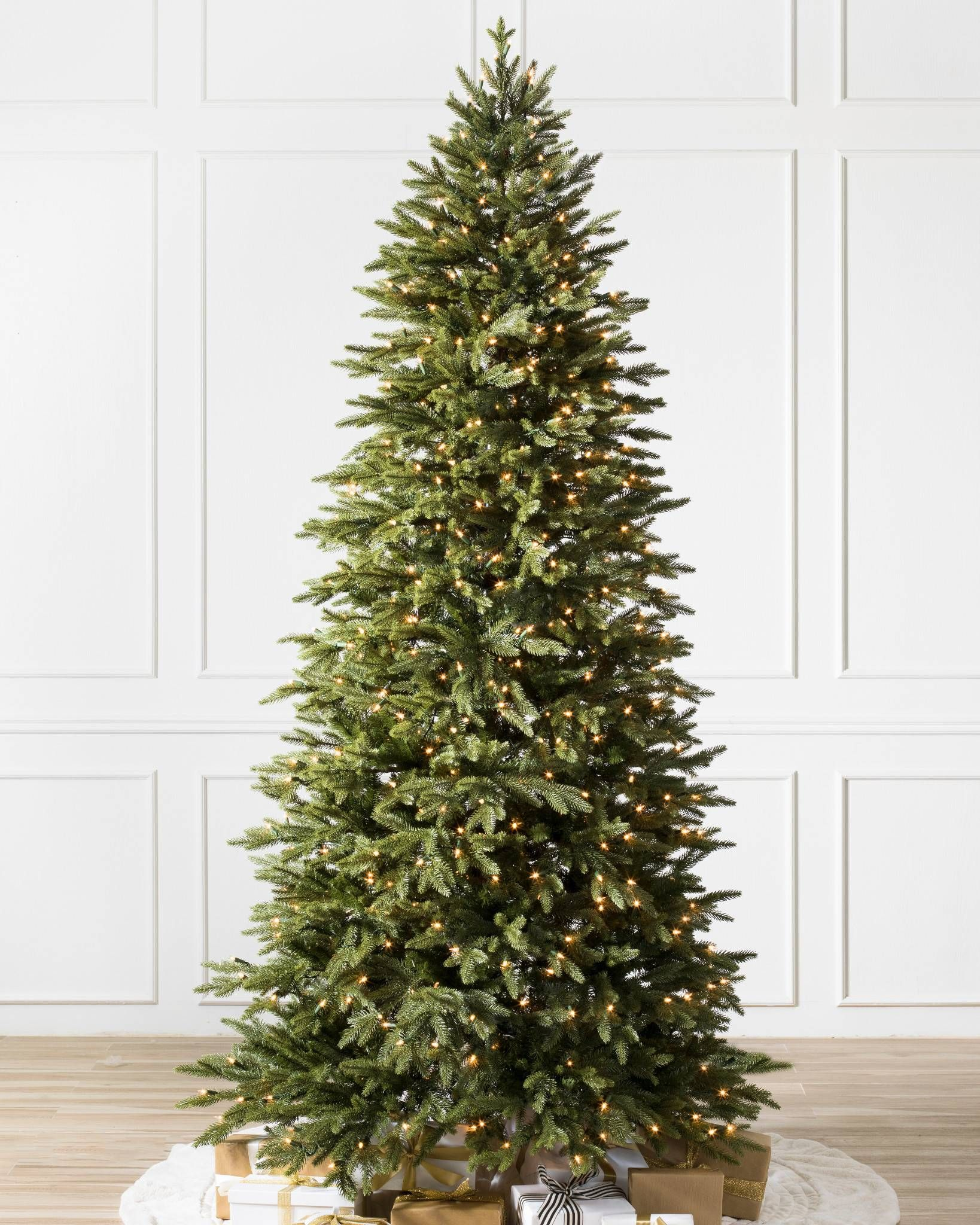 Silverado Slim Artificial Christmas Trees Balsam Hill In 2020 Realistic Artificial Christmas Trees Slim Christmas Tree Balsam Fir Christmas Tree