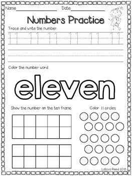 Numbers 11 20 Practice Numbers Preschool Prek Math Math Teens