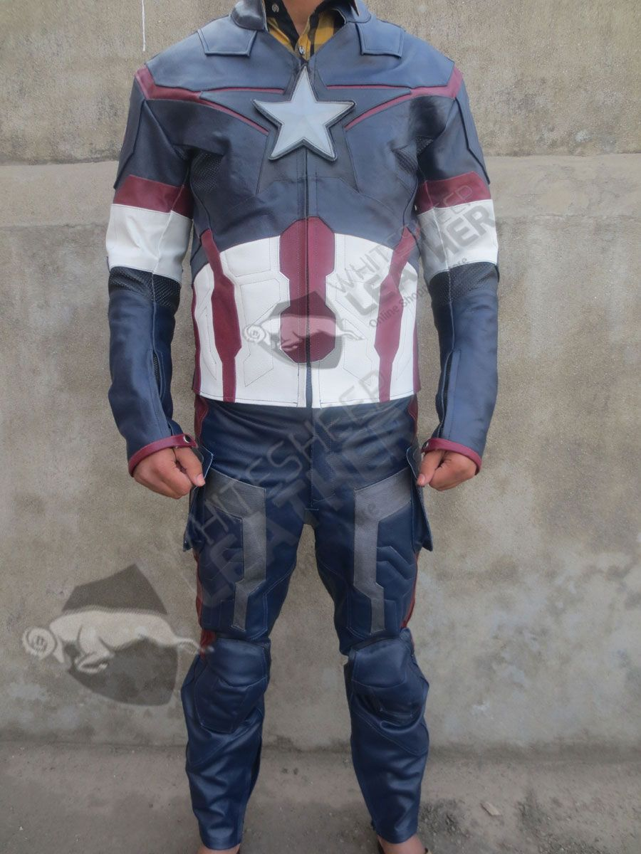 Avengers 2 Captain America Age Of Ultron Costume Replica Suit