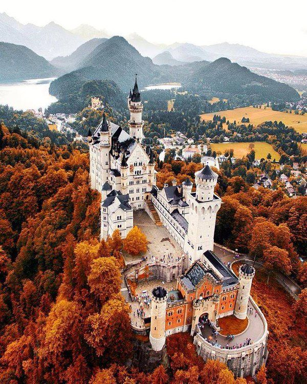 Fall at Neuschwanstein Castle, Germany