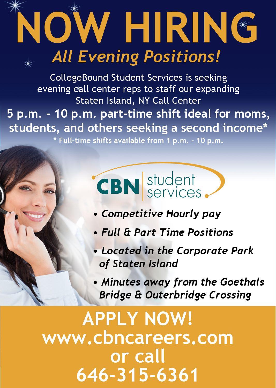 Collegebound job hiring student services college