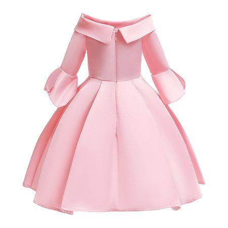 الأطفال اللباس مطرزة أضعاف تنورة الأميرة ذات أكمام طويلة Dress For Girl Child Childrens Dress African Dresses For Kids